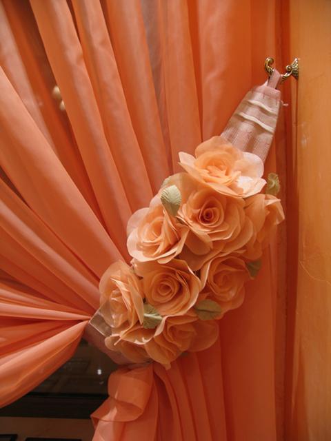 Подхваты для штор своими руками. Шьем розу для украшения