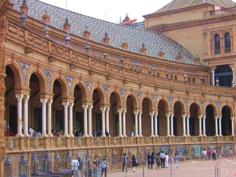 """Севилья. """"Площадь Испании""""(Plaza de España)."""