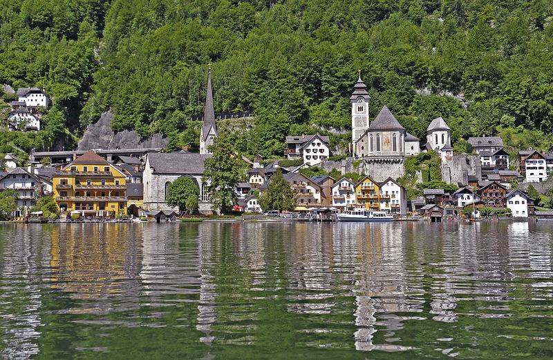 Гальштатт  (Hallstatt), прекрасный городок  Австрии