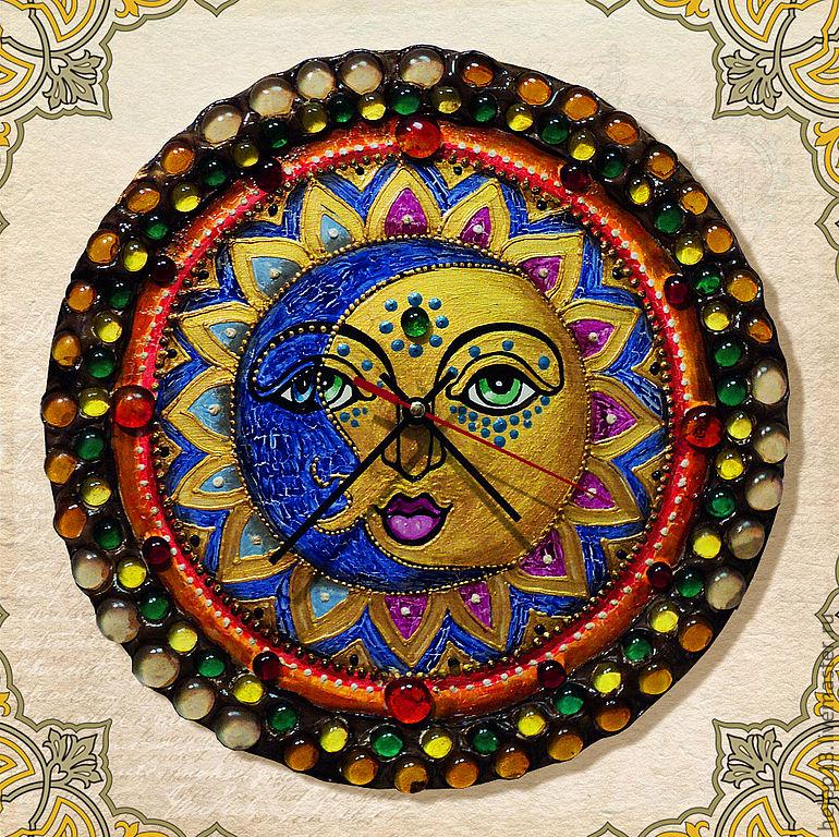Великолепная роспись и украшение часов  Натальи Полех!