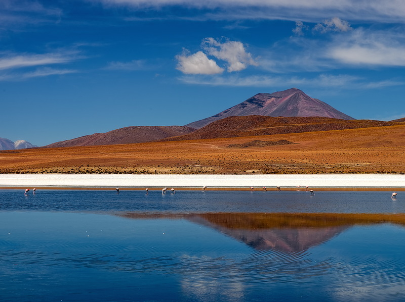"""Потрясающие пейзажи Боливии, Лагуна Верде, """"Колорадо"""", Фламинго!"""