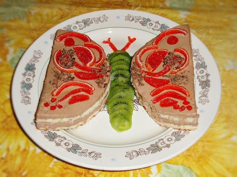 """Фруктовый торт  """"Бабочка"""""""