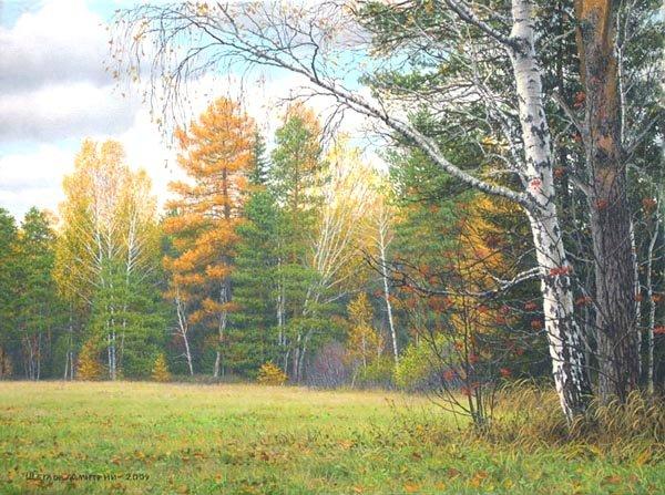 Уральские пейзажи.  Иллюзия реальности природы художника Дмитрия Щеглова