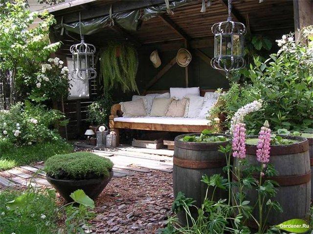 Уютные уголки отдыха на даче