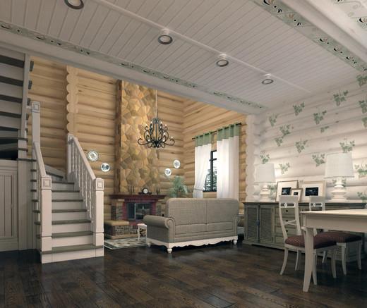 Деревенский стиль в интерьере загородного дома