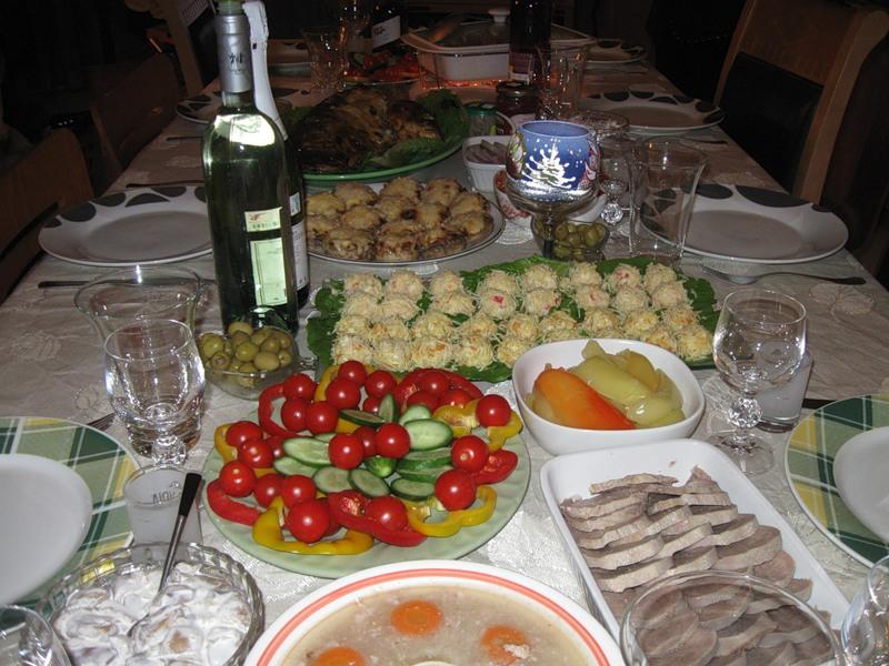 Новый салат и  Новогодний стол
