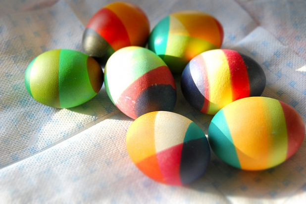 Как красиво покрасить яйца на Пасху. Идеи