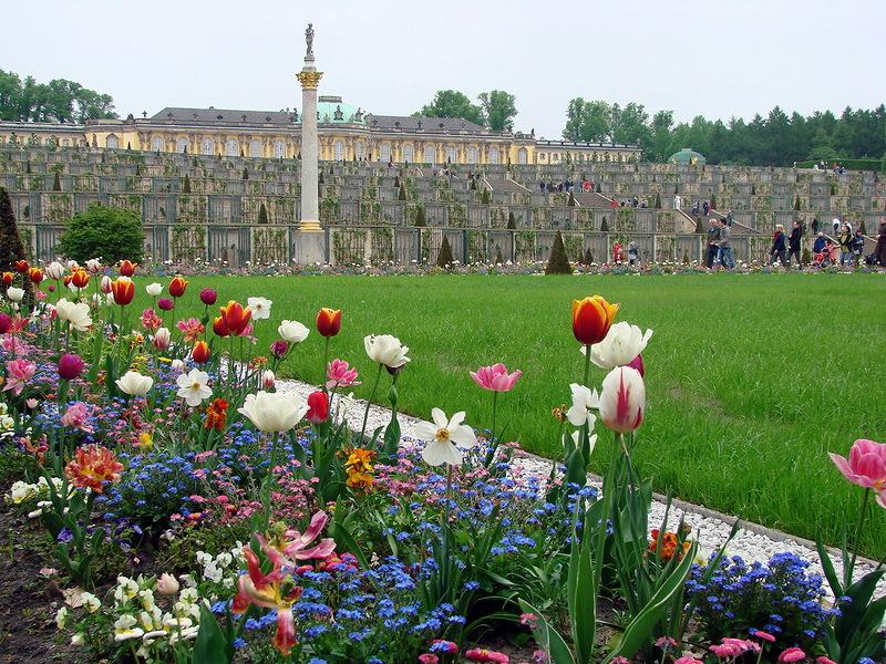 Дворец  и парк Сан-Суси. Потсдам