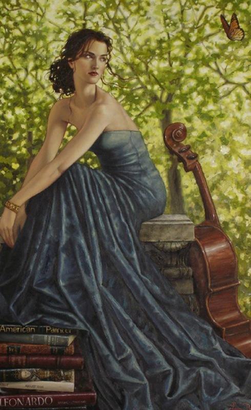 Художница Лаури Бланк. Времена года - Женщина Весна