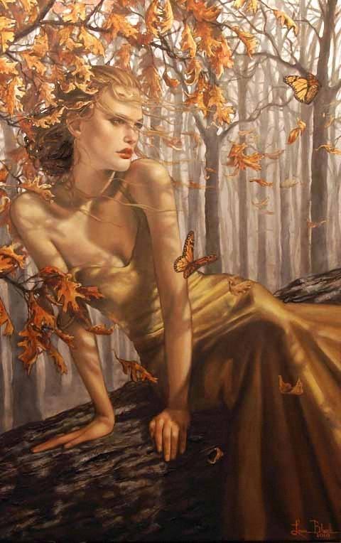 Художница Лаури Бланк. Времена года - Женщина Осень
