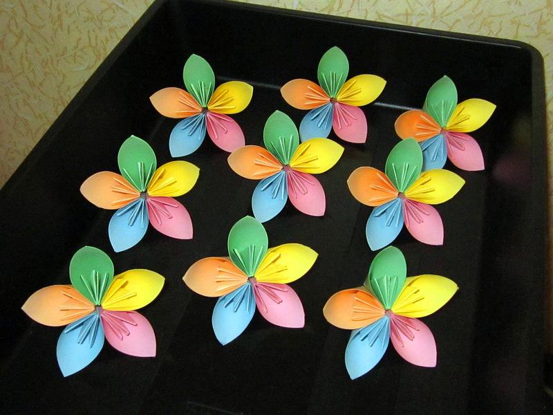 Модули цветочной кусудамы, автор Mio Tsugawa