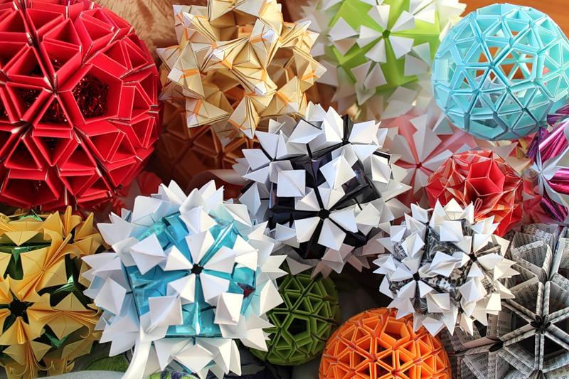 Кусудама - японское оригами