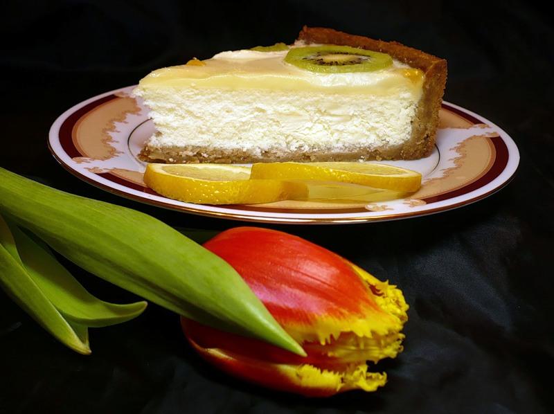Лимонный тарт с киви