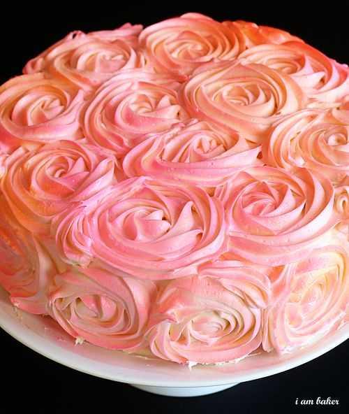 Торт РОЗ для влюбленных.