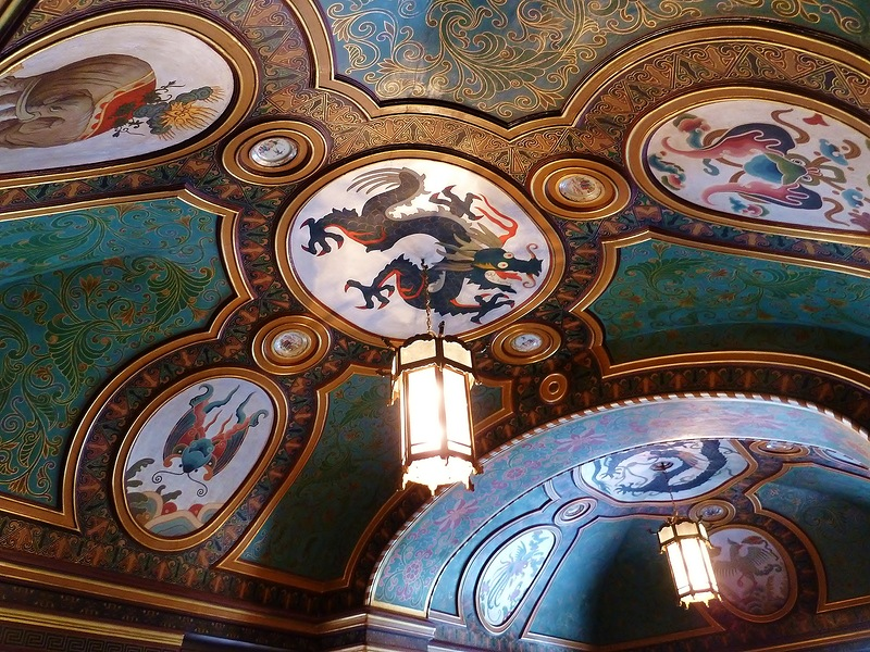 Потолок  дворца Юсуповых