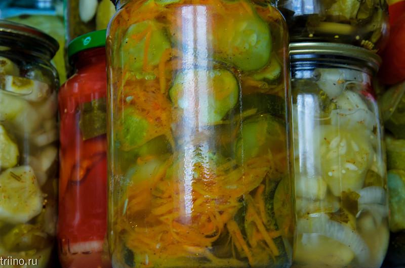 Зимний салат из огурцов по-корейски