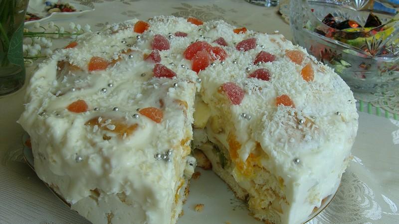 Торт Белоснежка. Простой в приготовлении, но изумительно вкусный!