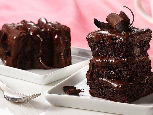 Быстрый шоколадный пирог на кефире