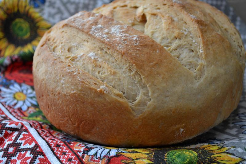Хлеб на кефирном тесте