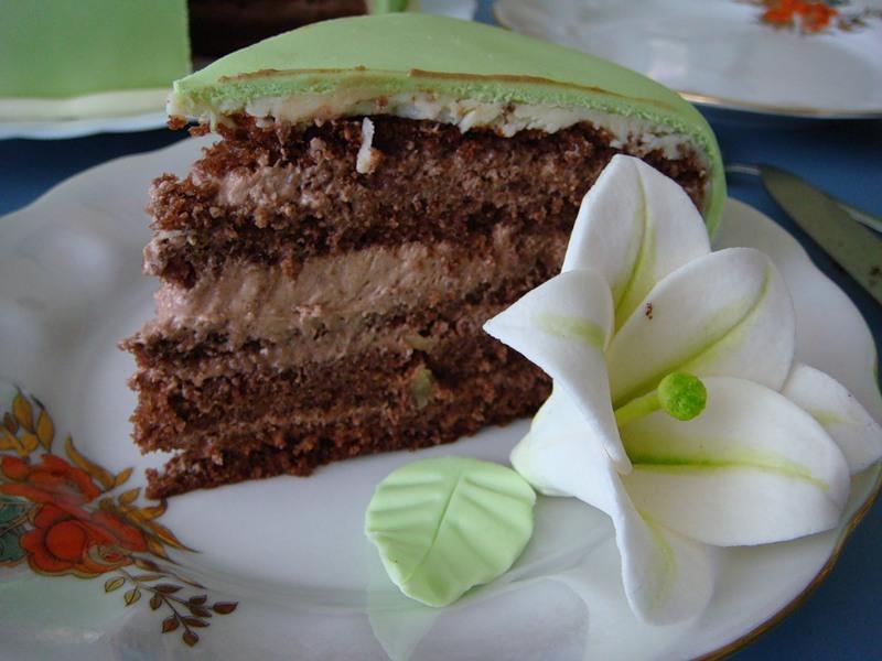 Шоколадный торт с кремом -суфле