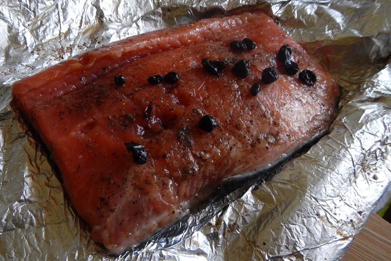 Gravlax, шведский рецепт маринования лосося с перцем