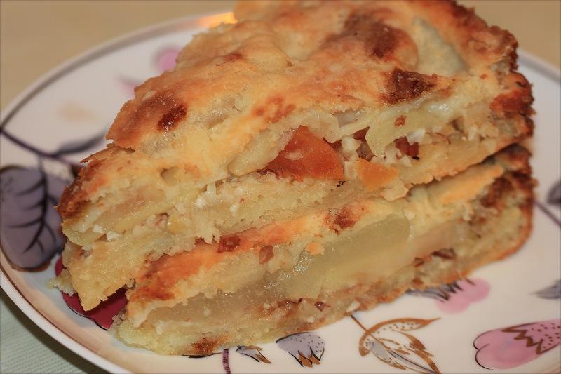 Грушево-творожный пирог