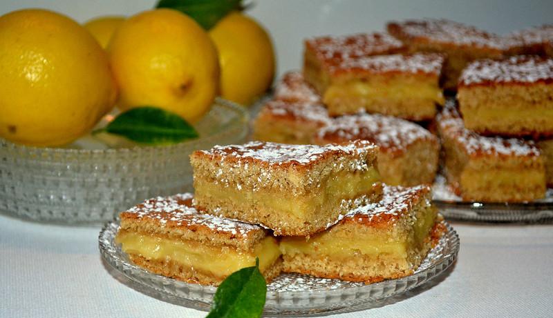 Песочный лимонный пирог