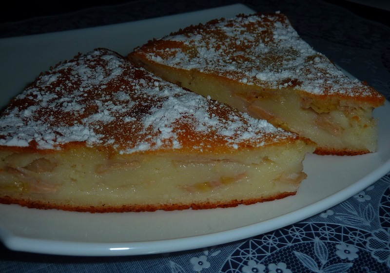 Пирог-манник банановый