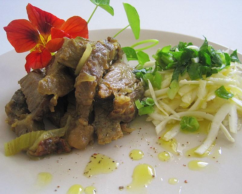 Тушёная говядина по-эфиопски