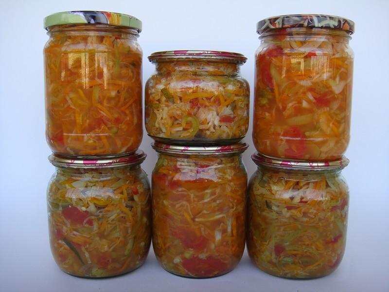 Салаты овощные на зиму. Лучшие рецепты