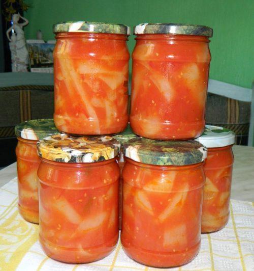 Лечо с болгарским перцем и томатами