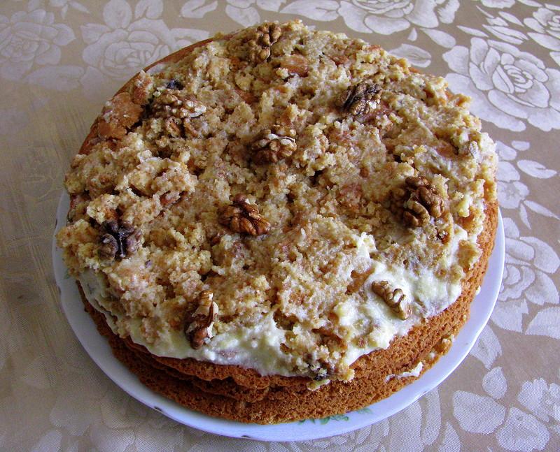 Простой медово-ореховый торт!