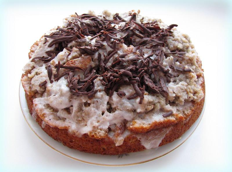 Торт сметанный с вареньем
