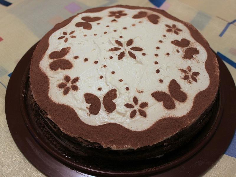"""Бисквитные торты, варианты их украшений и прослойки. Торт """"Тирамису"""""""