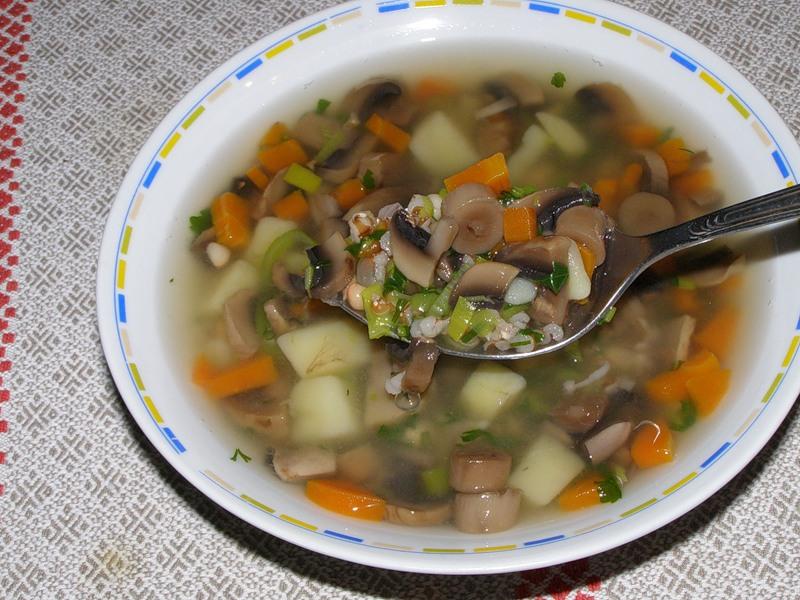 Грибной суп постный